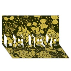 Floral Wallpaper Forest Believe 3d Greeting Card (8x4)