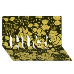 Floral Wallpaper Forest Hugs 3d Greeting Card (8x4)