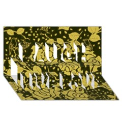 Floral Wallpaper Forest Laugh Live Love 3D Greeting Card (8x4)