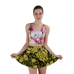 Floral Wallpaper Forest Mini Skirts