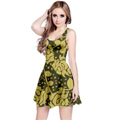 Floral Wallpaper Forest Reversible Sleeveless Dresses