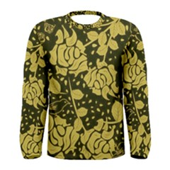Floral Wallpaper Forest Men s Long Sleeve T-shirts