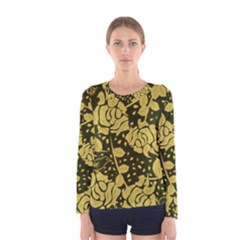 Floral Wallpaper Forest Women s Long Sleeve T Shirts