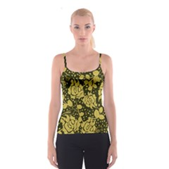 Floral Wallpaper Forest Spaghetti Strap Tops