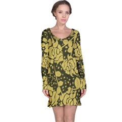 Floral Wallpaper Forest Long Sleeve Nightdresses