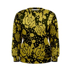 Floral Wallpaper Forest Women s Sweatshirts