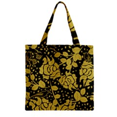 Floral Wallpaper Forest Zipper Grocery Tote Bags
