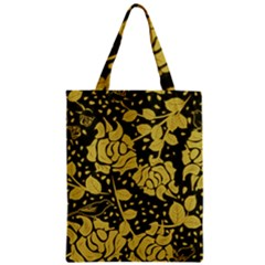 Floral Wallpaper Forest Zipper Classic Tote Bags