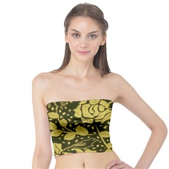 Floral Wallpaper Forest Women s Tube Tops