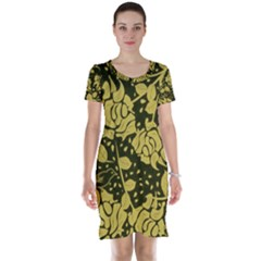 Floral Wallpaper Forest Short Sleeve Nightdresses
