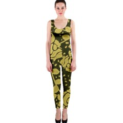 Floral Wallpaper Forest OnePiece Catsuits