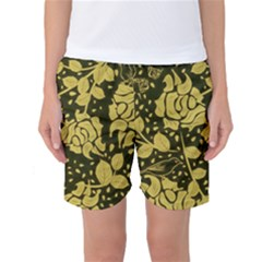 Floral Wallpaper Forest Women s Basketball Shorts