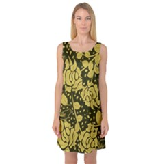 Floral Wallpaper Forest Sleeveless Satin Nightdresses