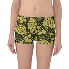 Floral Wallpaper Forest Boyleg Bikini Bottoms