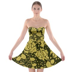 Floral Wallpaper Forest Strapless Bra Top Dress