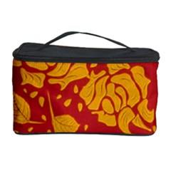 Floral Wallpaper Hot Red Cosmetic Storage Cases