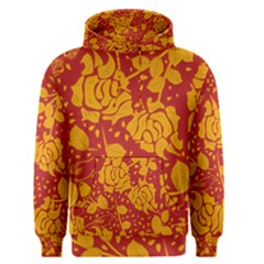 Floral Wallpaper Hot Red Men s Pullover Hoodies