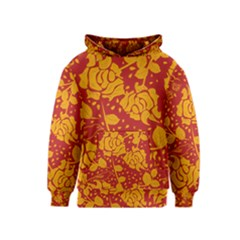 Floral Wallpaper Hot Red Kid s Pullover Hoodies