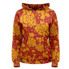 Floral Wallpaper Hot Red Women s Pullover Hoodies