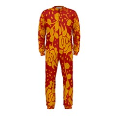 Floral Wallpaper Hot Red OnePiece Jumpsuit (Kids)