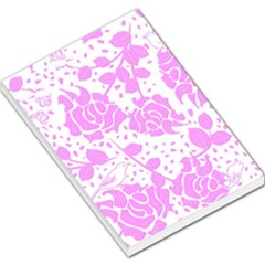 Floral Wallpaper Pink Large Memo Pads