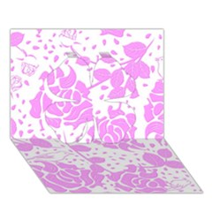 Floral Wallpaper Pink Clover 3D Greeting Card (7x5)