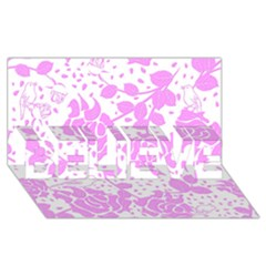 Floral Wallpaper Pink Believe 3d Greeting Card (8x4)