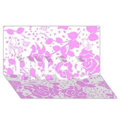Floral Wallpaper Pink HUGS 3D Greeting Card (8x4)