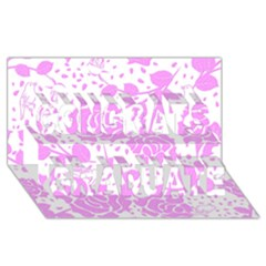 Floral Wallpaper Pink Congrats Graduate 3d Greeting Card (8x4)