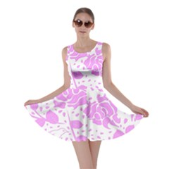 Floral Wallpaper Pink Skater Dresses
