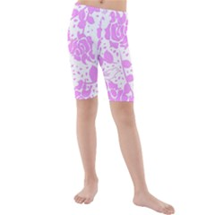 Floral Wallpaper Pink Kid s swimwear