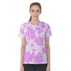 Floral Wallpaper Pink Women s Cotton Tees