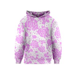 Floral Wallpaper Pink Kid s Pullover Hoodies
