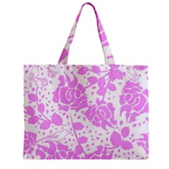 Floral Wallpaper Pink Zipper Tiny Tote Bags