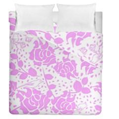 Floral Wallpaper Pink Duvet Cover (full/queen Size)