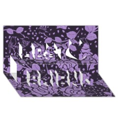 Floral Wallpaper Purple Best Friends 3D Greeting Card (8x4)