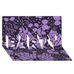 Floral Wallpaper Purple Party 3d Greeting Card (8x4)