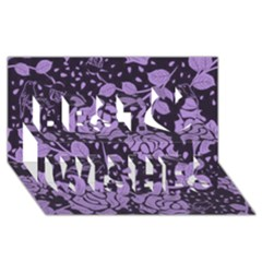 Floral Wallpaper Purple Best Wish 3d Greeting Card (8x4)