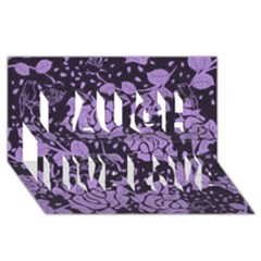 Floral Wallpaper Purple Laugh Live Love 3D Greeting Card (8x4)