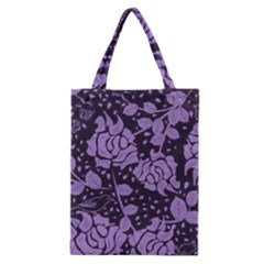 Floral Wallpaper Purple Classic Tote Bags