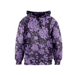 Floral Wallpaper Purple Kids Zipper Hoodies
