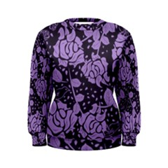 Floral Wallpaper Purple Women s Sweatshirts