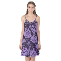 Floral Wallpaper Purple Camis Nightgown