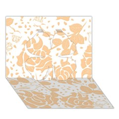 Floral Wallpaper Peach Clover 3D Greeting Card (7x5)