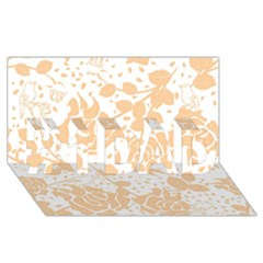 Floral Wallpaper Peach #1 DAD 3D Greeting Card (8x4)
