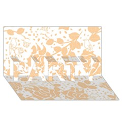 Floral Wallpaper Peach PARTY 3D Greeting Card (8x4)