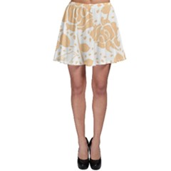 Floral Wallpaper Peach Skater Skirts