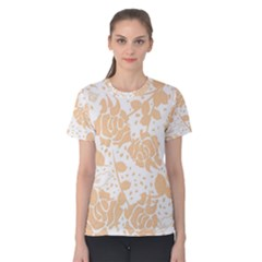 Floral Wallpaper Peach Women s Cotton Tees