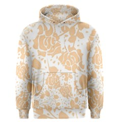 Floral Wallpaper Peach Men s Pullover Hoodies