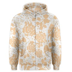 Floral Wallpaper Peach Men s Zipper Hoodies